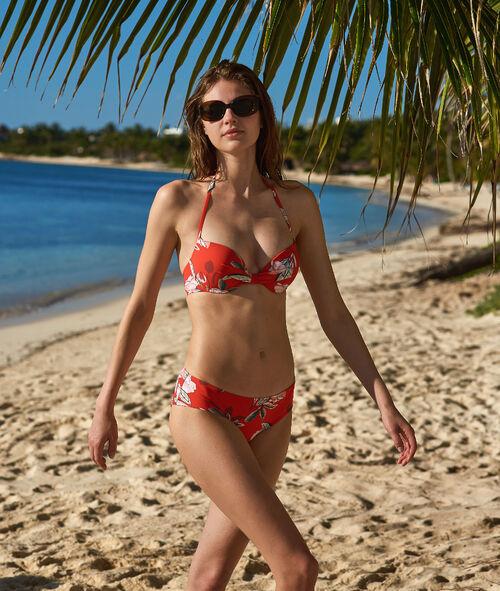 Bas de bikini shorty imprimé fleurs