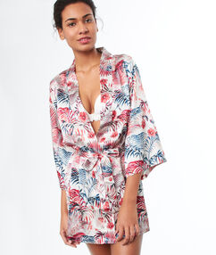 Kimono déshabillé blanc.