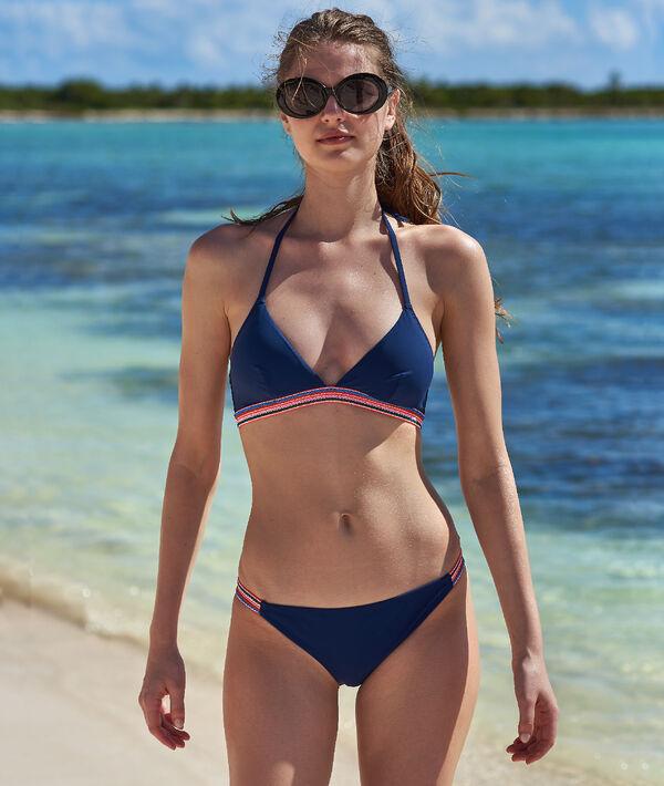 Bas de bikini simple, détails colorés