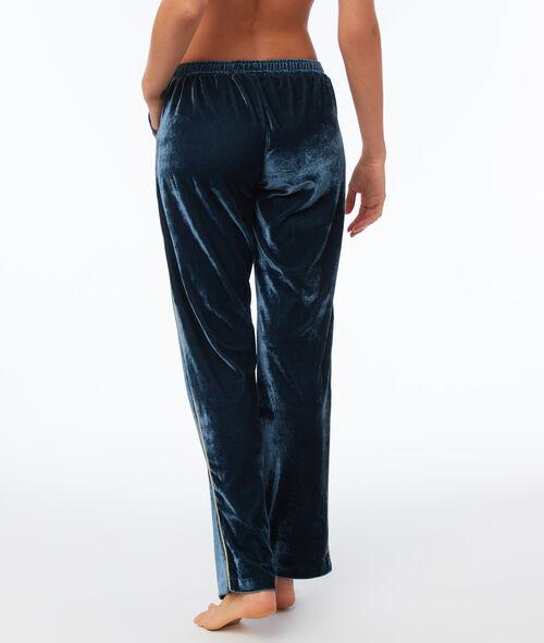 Pantalon en velours bande latérale