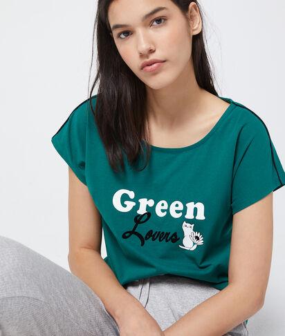 """GUI - T-SHIRT """"GREEN LOVERS"""" COTON BIO"""
