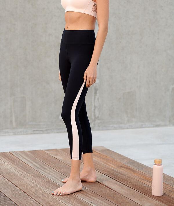 Legging court à bandes latérales
