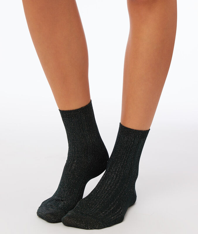 Chaussettes fibres métallisées sapin.