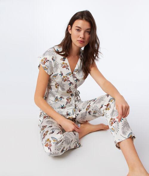 Pantalon imprimé floral