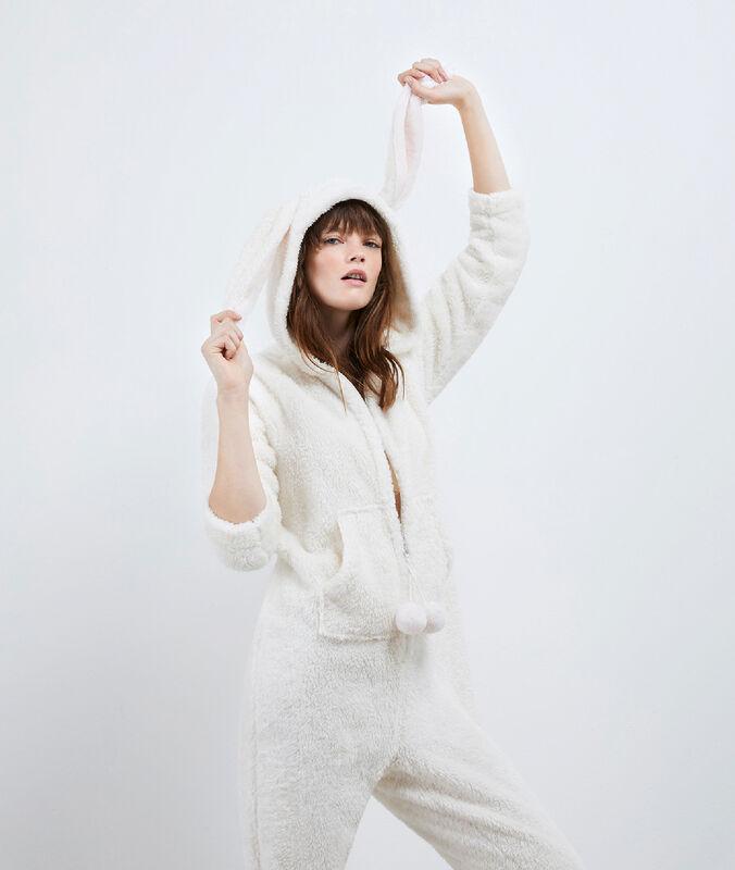 Combinaison pyjama lapin ecru.