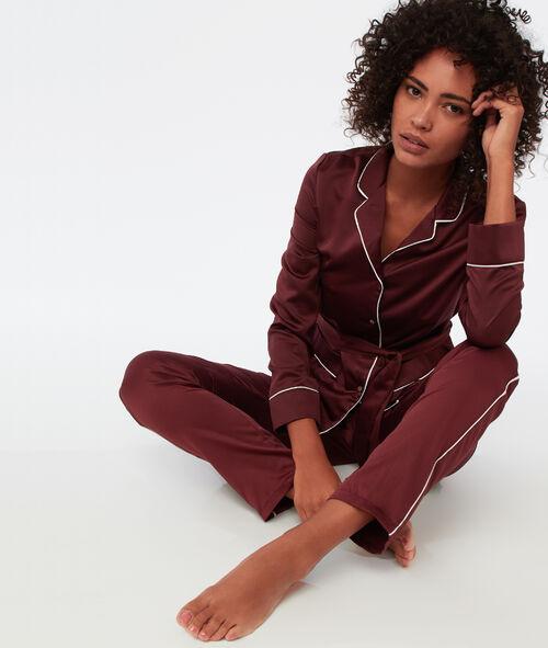 Chemise de pyjama d'homme satin