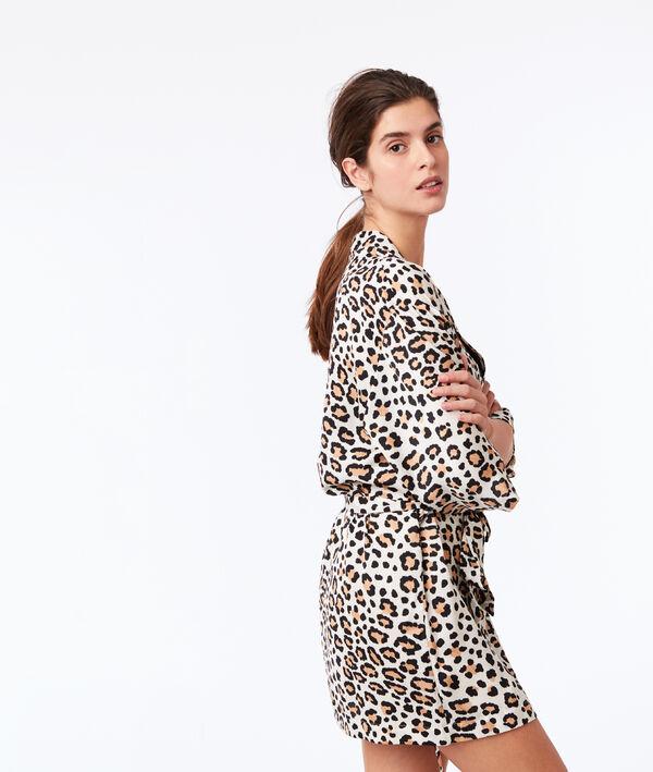 Déshabillé imprimé léopard