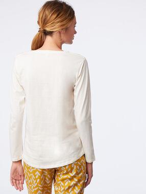 """T-shirt manches longues """"intrépide"""" ecru."""