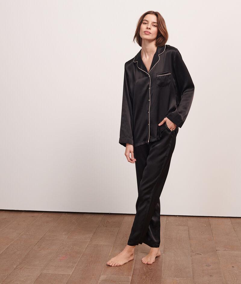 Chemise de pyjama en soie;${refinementColor}