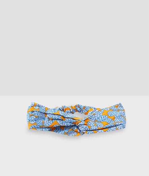 Bandeau turban imprimé fleuri