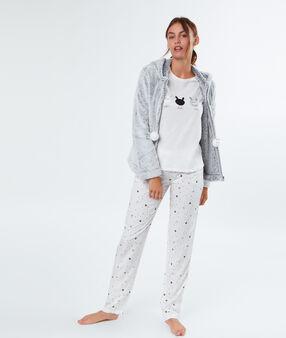 Pyjama 3 pièces lapins blanc.