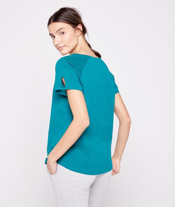 """T-shirt """"Prendre la vie du bon côté"""" en coton bio"""