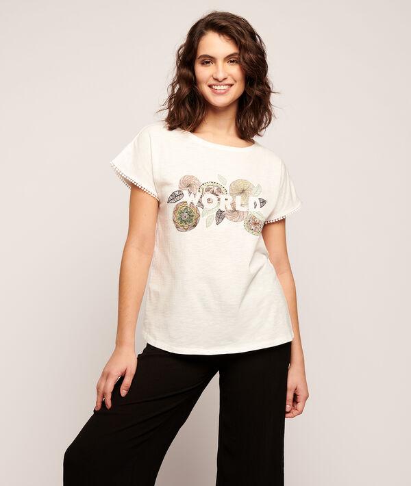"""T-shirt imprimé rosas """"World"""";${refinementColor}"""