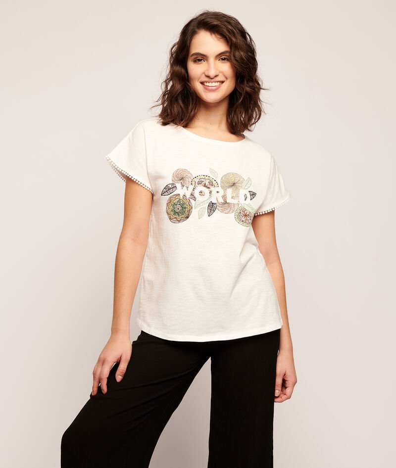 "T-SHIRT IMPRIMÉ ROSAS ""WORLD"""