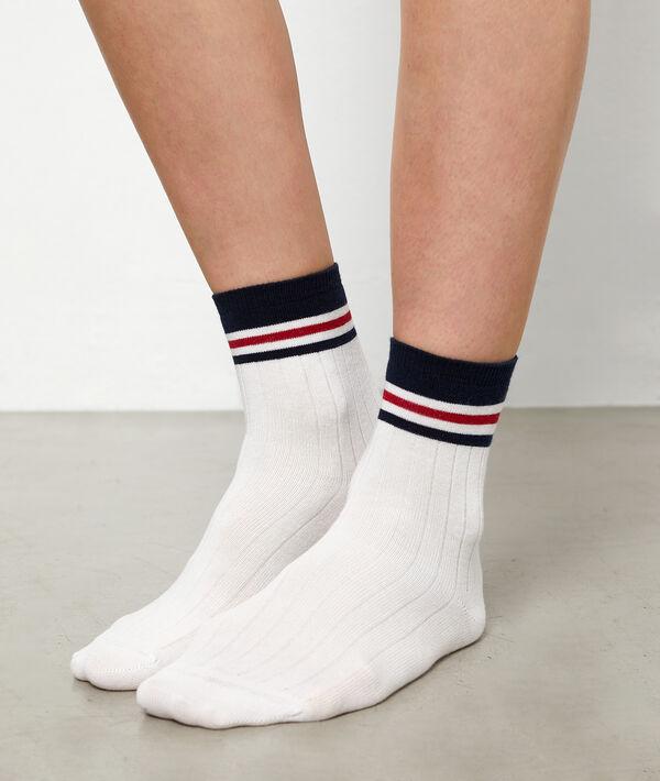Chaussettes courtes sporty à rayures
