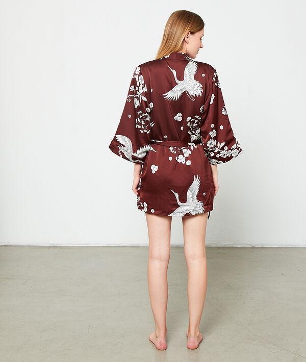 Kimono satiné chaud doublure doudou
