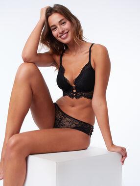 Soutien-gorge n°5 - ampliforme naturel façon corset noir.