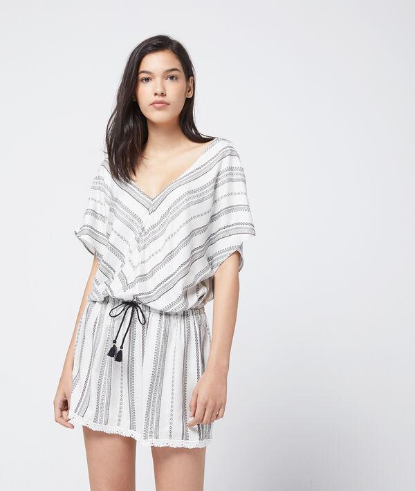 Chemise de nuit, nouée à la taille