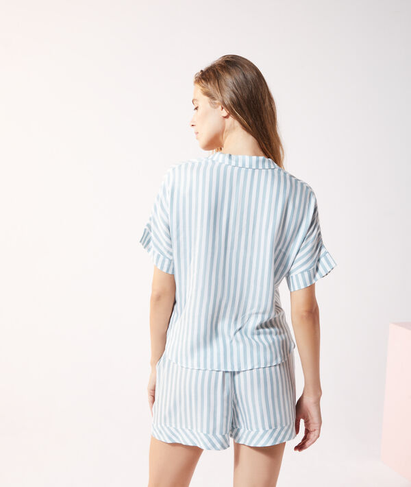 Chemise de pyjama rayée;${refinementColor}