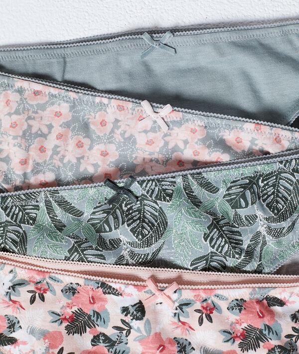 Pack de 4 culottes imprimées en coton