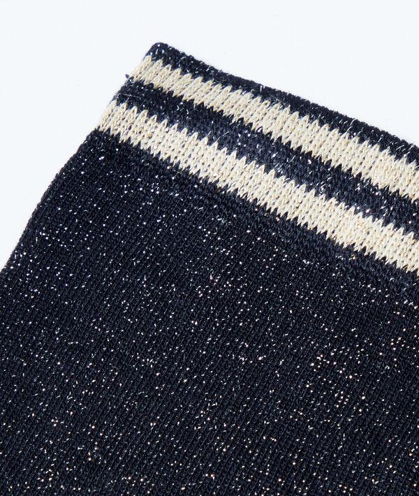 Chaussettes à fils métallisés