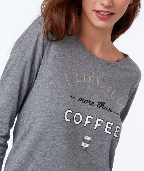 T-shirt à message avec noeud