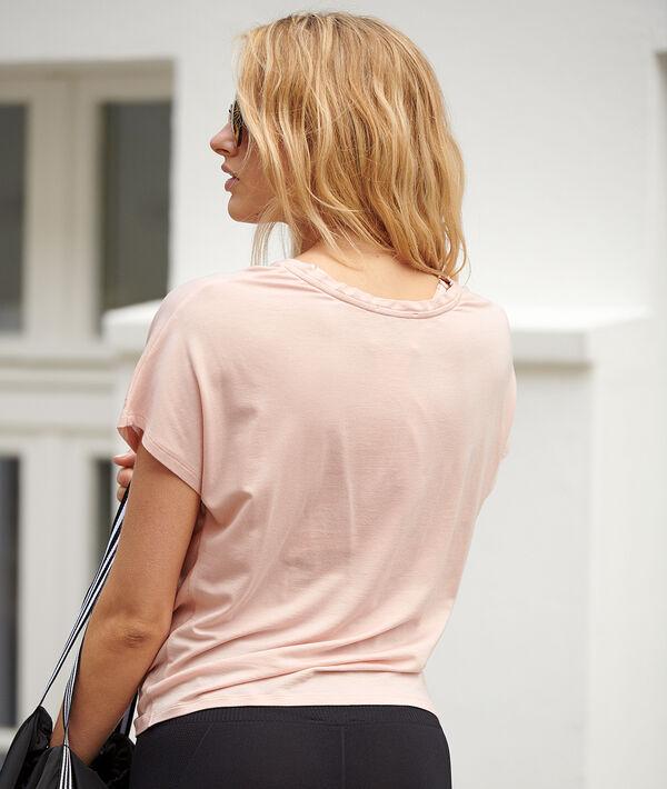 T-shirt en modal effet drapé