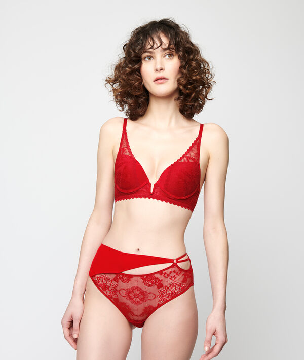 Soutien-gorge N°3 - Triangle push-up en dentelle;${refinementColor}