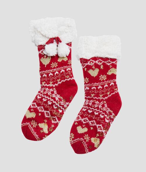 Chaussons chaussettes d'intérieur de Noel