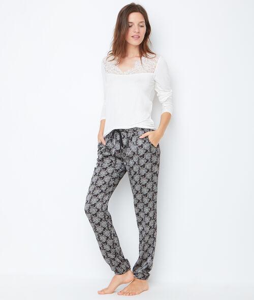 Pantalon imprimé bicolore