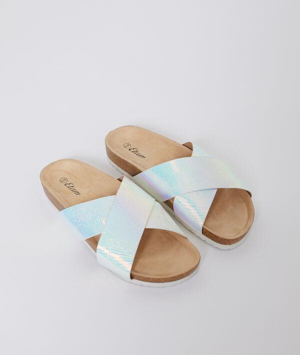 Sandales croisées holographiques