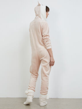 Combinaison pyjama biche rose.
