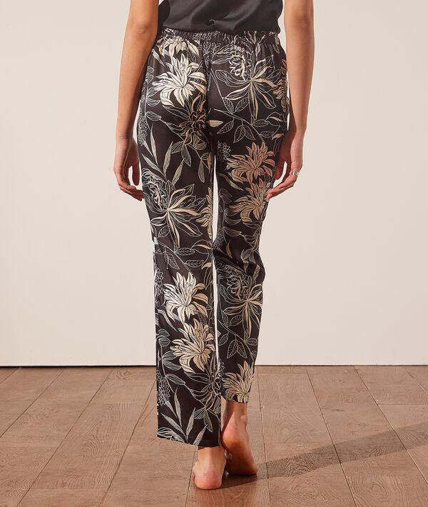Pantalon de pyjama fleuri;${refinementColor}