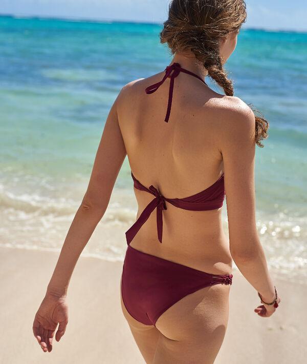 Bas de bikini simple, œillets