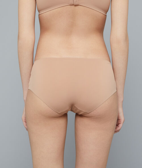 Shorty naturel en microfibre