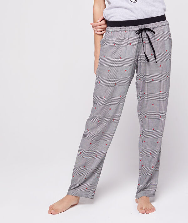 Pantalon noué à motifs bisous