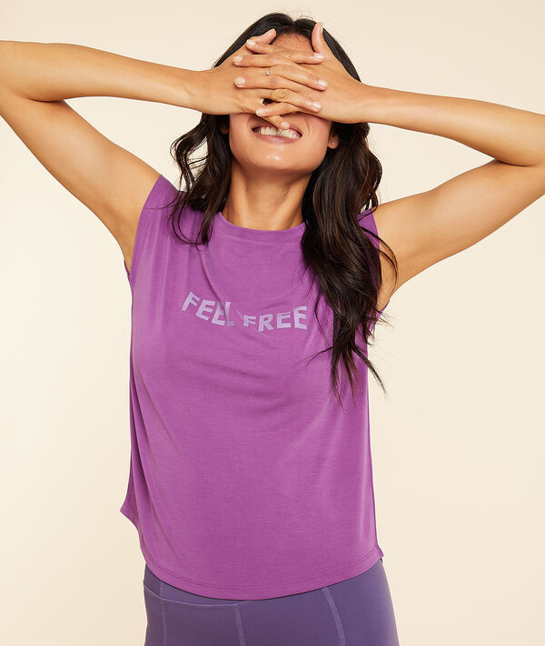 """T-shirt manches courtes """"Feel free"""";${refinementColor}"""