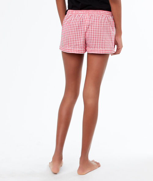 Short imprimé carreaux vichy
