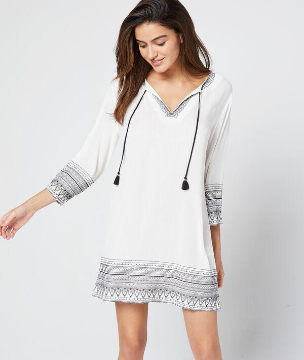 Robe tunique à pompons;${refinementColor}