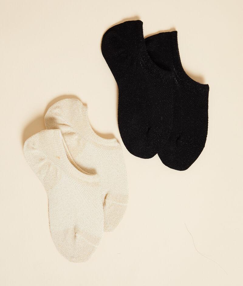 Lot de 2 paires de socquettes essentielles;${refinementColor}