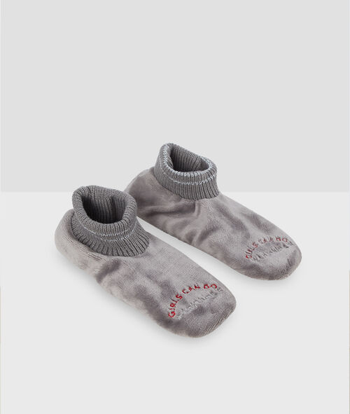 Chaussettes homewear fausse fourrure