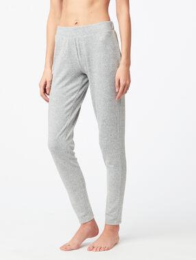 Pantalon leggings chiné gris.