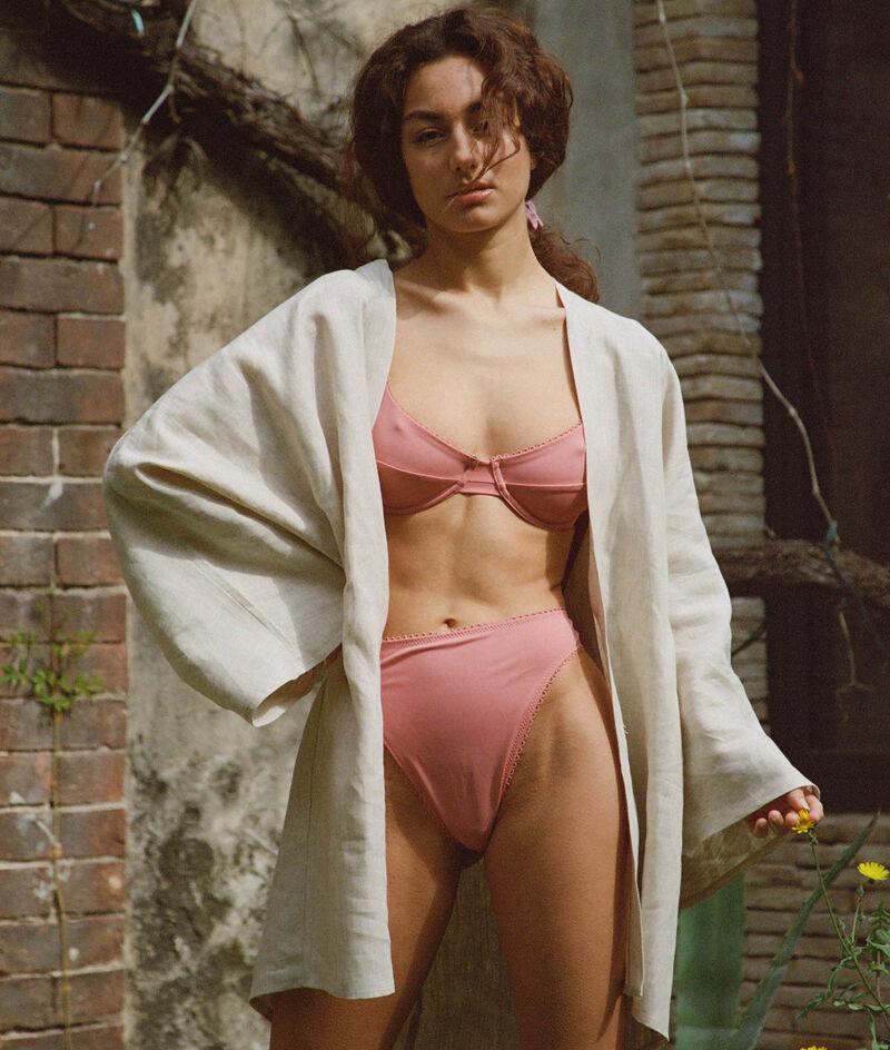 Culotte Sandy taille haute et échancrée maillot de bain;${refinementColor}