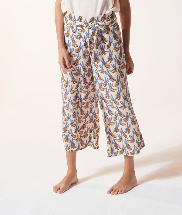Pantacourt de pyjama imprimé;${refinementColor}