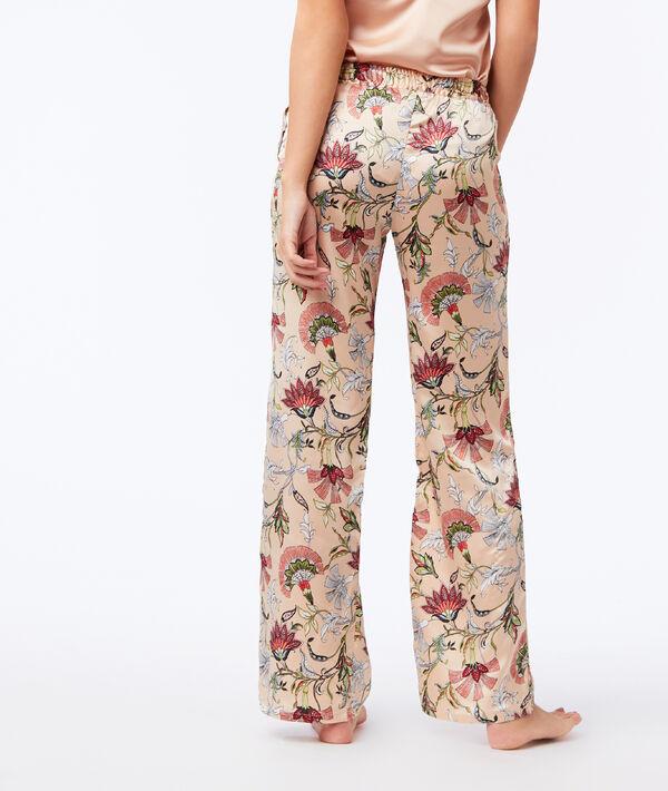 Pantalon large satiné