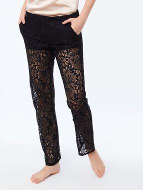 Pantalon guipure noir.