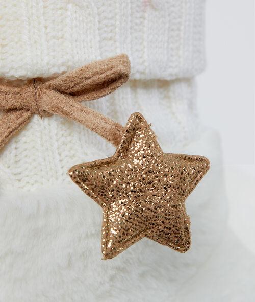 Chaussons bottines fourrés étoile