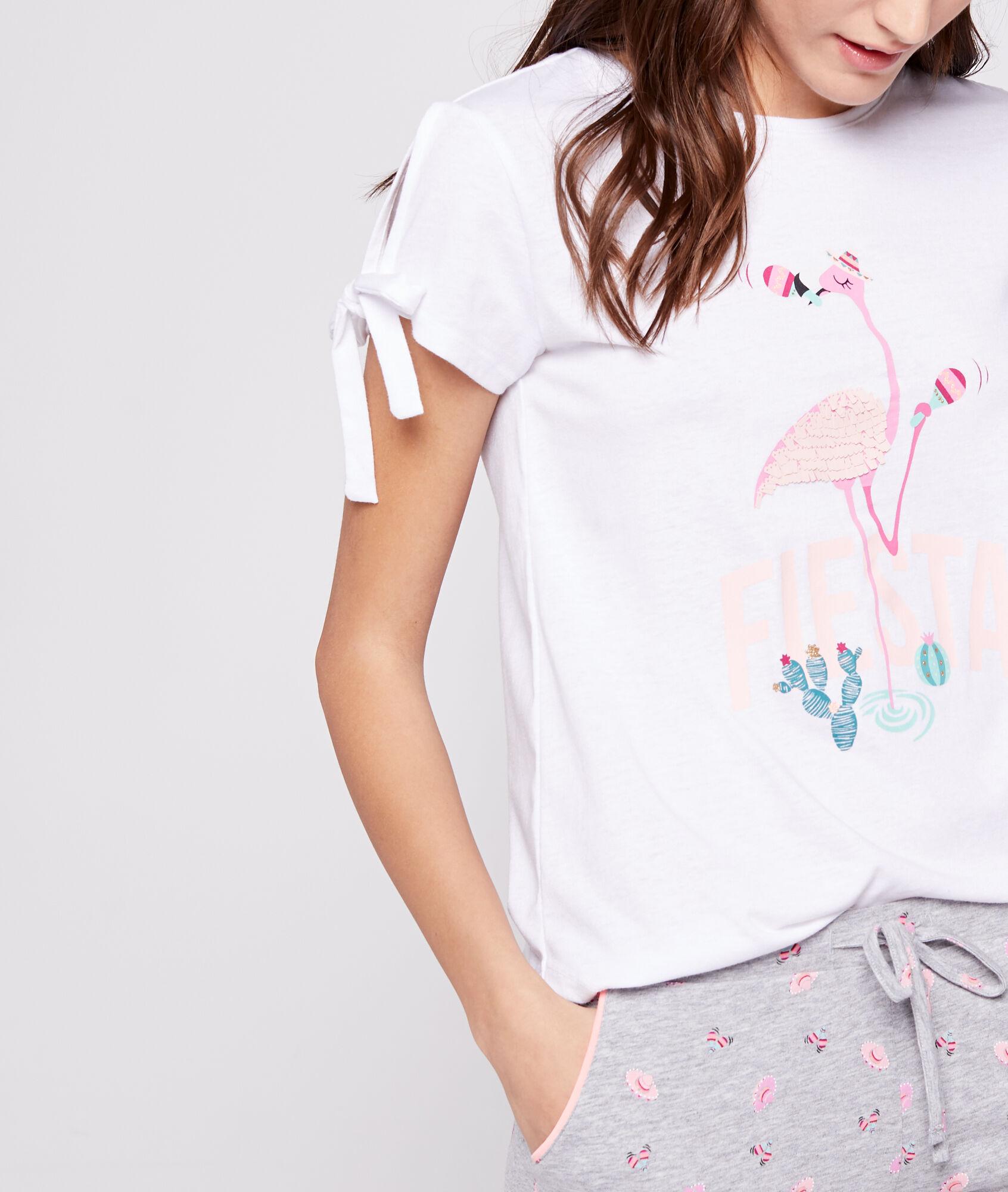 Imprimé Rose Shirt T Shirt Flamant Flamant T Imprimé T Rose rthQCsdx