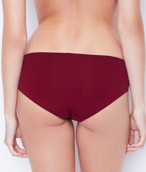 Shorty microfibre bordeaux grenat.