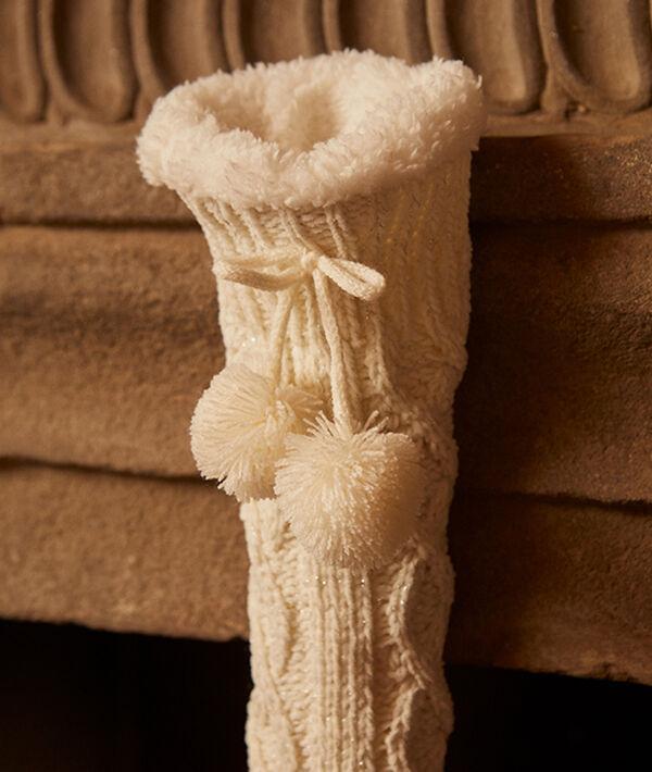 Chaussettes hautes à pompons